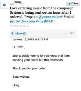 Order from a composer
